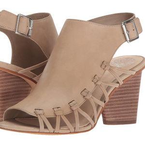 Vince Camuto TAn Leather ANKARA Wedge Sandal